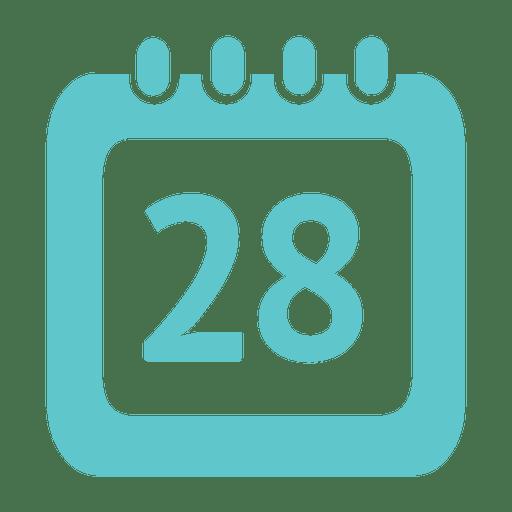 Icono de calendario de 28 días