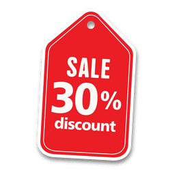 30 percent discount sale tag