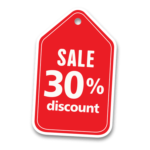 30 percent discount sale tag Transparent PNG