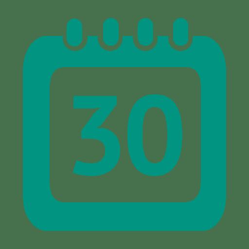 Icono de calendario de 30 días