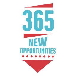 365 nuevas oportunidades emblema de año nuevo