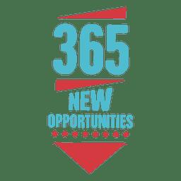 Novo emblema de ano novo de 365 oportunidades