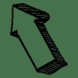 Desenho da seta 3d