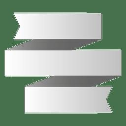 Banner de origami de 3 dobras