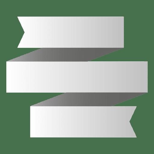3 folds origami banner Transparent PNG
