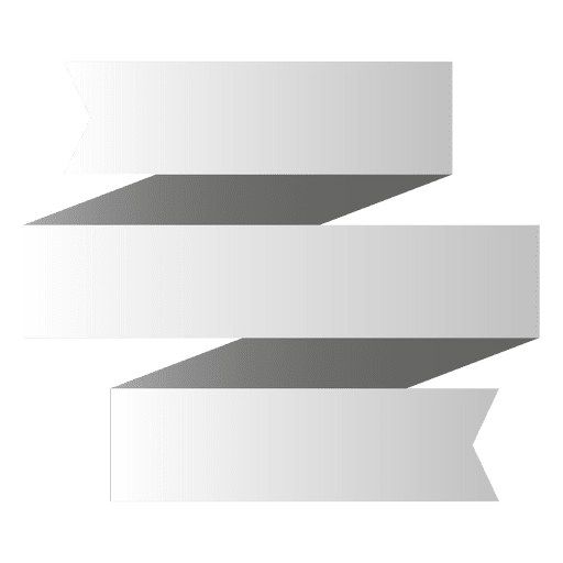 Banner de origami 3 pliegues Transparent PNG