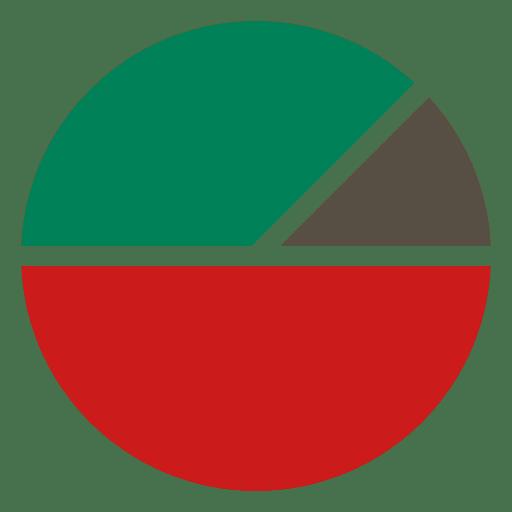 Gráfico de pizza de 3 partes chirstmas Transparent PNG