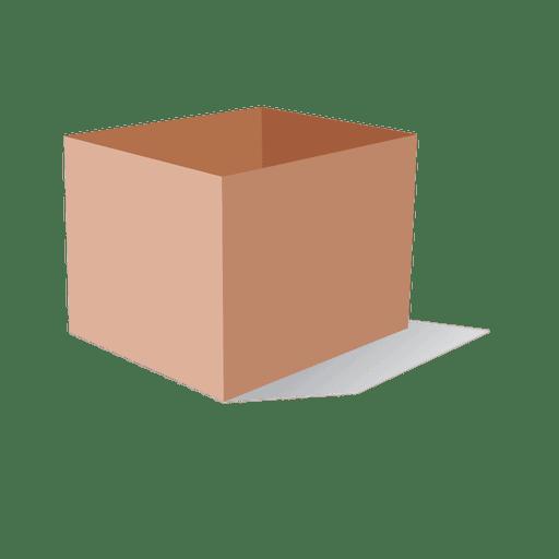 Caja de carton 3d Transparent PNG