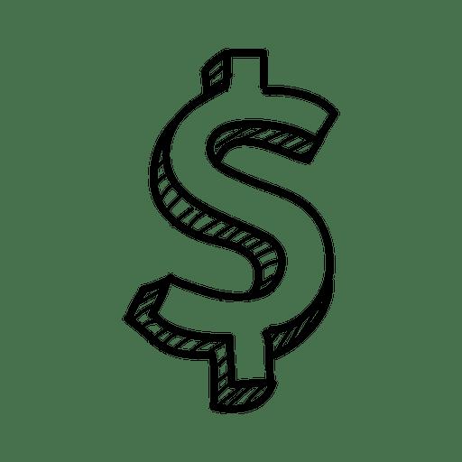 Mão 3d desenhada cifrão Transparent PNG