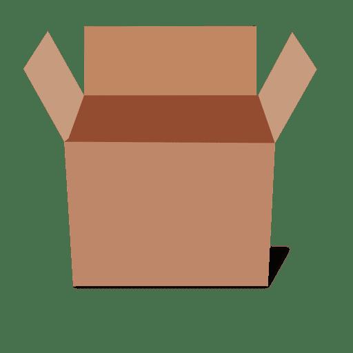 Pacote de papelão vista lateral 3D Transparent PNG