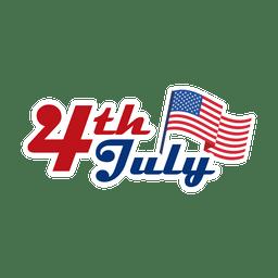 4º Juli logo EE.UU.