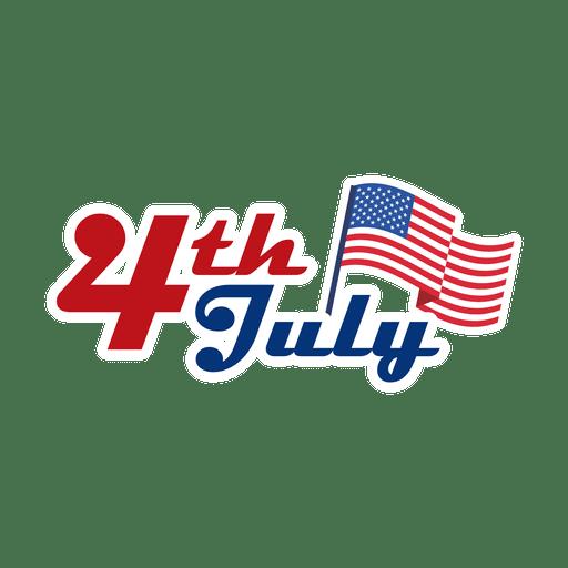 4 de julio logo usa