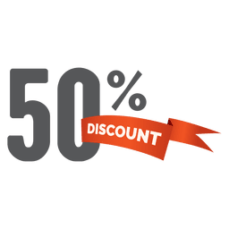 50 percent discount sale tag
