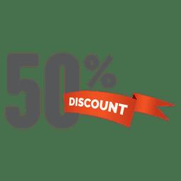 Etiqueta de venda de 50% de desconto