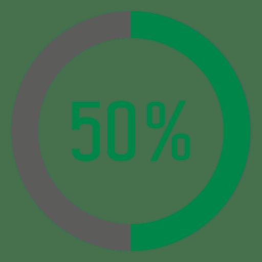Círculo de progresso de 50 por cento Transparent PNG