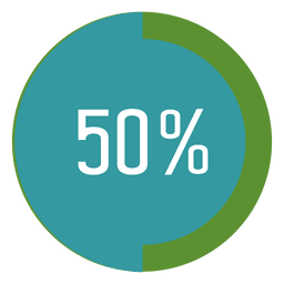 50 percent progress tag