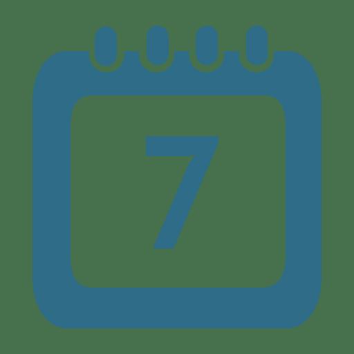 Icono de calendario del séptimo día
