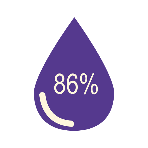 86 percent flat droplet Transparent PNG