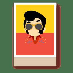 Avatar de desenhos animados de Elvis