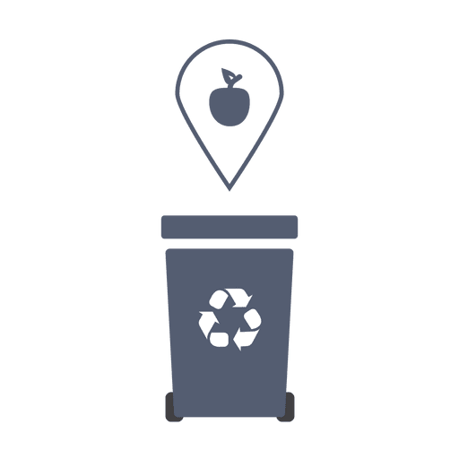 Grey recycling trash organic.svg Transparent PNG