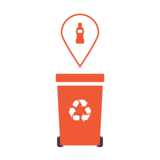 Orange recycling trash plastic.svg Transparent PNG
