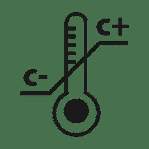 Termómetro de temperatura icon.svg Transparent PNG