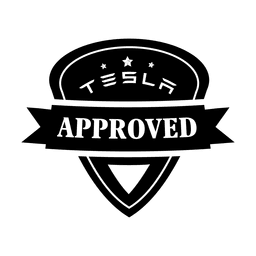 Tesla aprueba label.svg