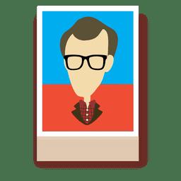 Personaje de dibujos animados de Woody Allen