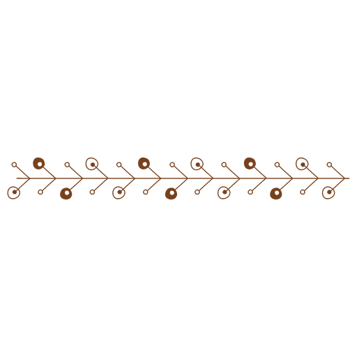 Abstract line ornament border
