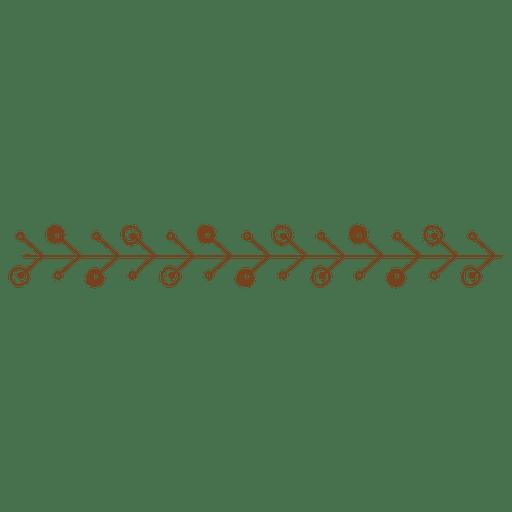 Línea abstracta adorno frontera Transparent PNG
