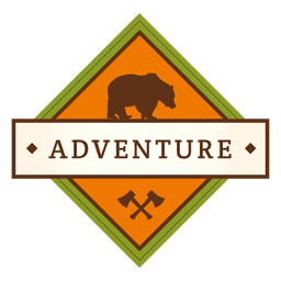 Adventure diamond vintage badge