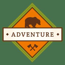 Adventure diamond vintage badge