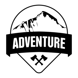 Adventure travel camping badge
