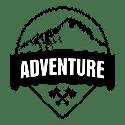 Emblema de acampamento de viagem de aventura