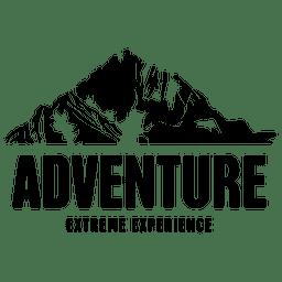 Emblema de viagem de aventura
