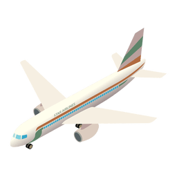 Flugzeug-Versand-Symbol