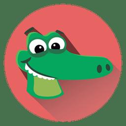 Alligator-Cartoon-Kreis-Symbol