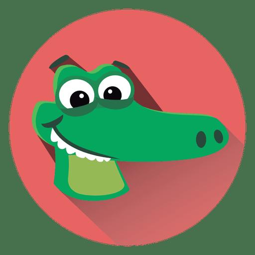 Alligator cartoon circle icon