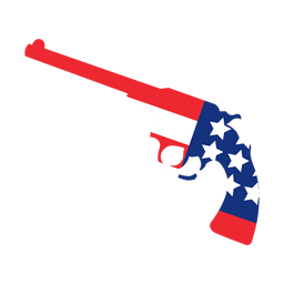Amerika-Flaggenpistole