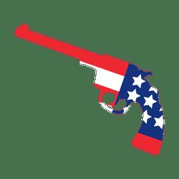Pistola estampada bandera de américa