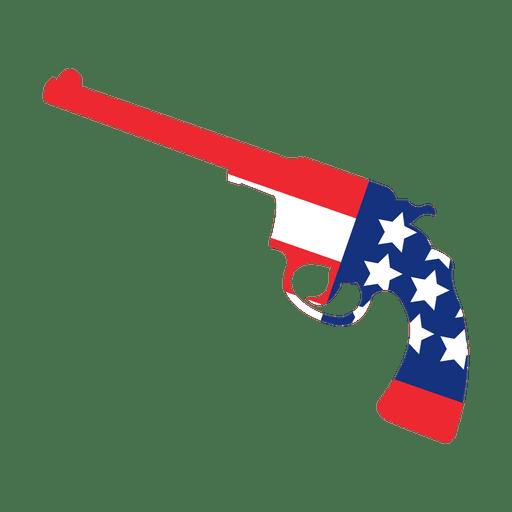 America flag print gun Transparent PNG