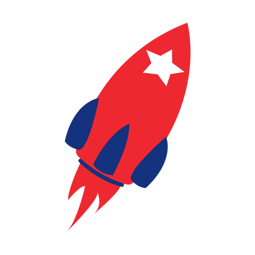 America flag print rocket Transparent PNG