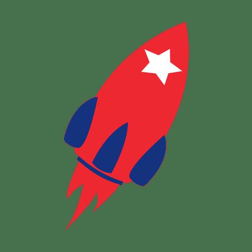 Cohete con estampado de bandera de América
