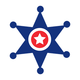 America flag print star