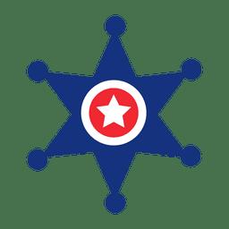 Estrela de impressão de bandeira de América