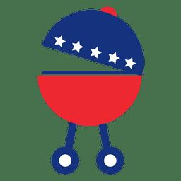 Estufa de barbacoa estampada América