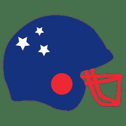 capacete bandeira americana