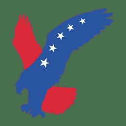 Águia de impressão de bandeira americana