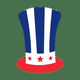 Chapéu de impressão da bandeira americana
