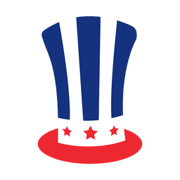Sombrero de la bandera americana de impresión